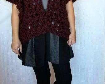 crochet sweater pattern. women's sweater pattern crochet