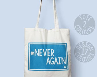 CHARITY Never Again MSD Campaign #neveragain movement tote bag DC March for Our Lives #marchforourlives Stoneman Douglas High School