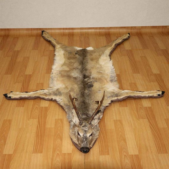 Siberian Roe Deer Taxidermy Rug Carpet For Sale Fur