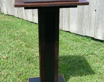 Rustic Barnwood Podium Pulpit Lectern Hostess Host Stand
