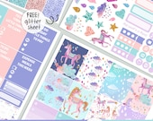 Be A Unicorn - KIT - PRINTABLE silhouette cut file , kit stickers,  printable planner stickers Erin Condren Life Planner