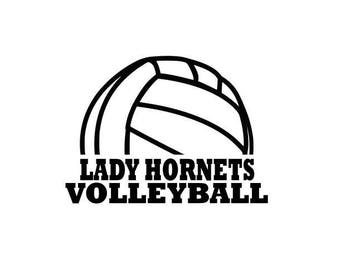 Hornets High School College Volleyball SVG File Cutting, DXF, EPS design, cutting files for Silhouette Studio and Cricut Design space