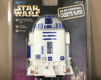 Vintage 1997 Star Wars R2-D2 Personal Cassette Player, New Unopened Sealed In Original Package, R2 D2
