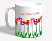 Flowers mug: gift for mum...