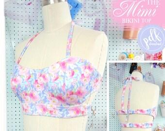DIGITAL Bikini (top only) Sewing Pattern - The Mimi Bikini Top - Evie la Luve