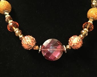 Orange Sparkle Necklace