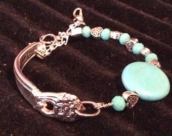 Beaded Spoon Bracelet ~ Spoon Bracelet ~ Spoon Jewelry ~ Beaded Jewelry ~ Vintage ~ Handcrafted ~ Handmade ~ Vintage Jewelry
