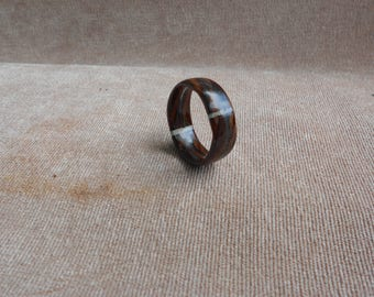 Resin Ring. Wood and Resin Ring. Handmade Jewelry. Unique gift for her. Wooden ring. Wooden jewelry.