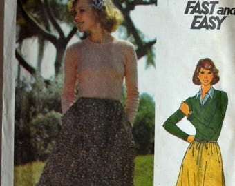 1970s Butterick Vintage Sewing Pattern 5633, Size M; Misses' Skirt