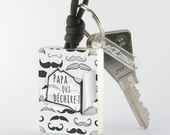 Porte-Clé en bois spécial ''Papa''