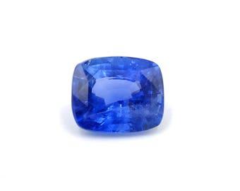 6ct Unheated Blue Sapphire Velvet Natural