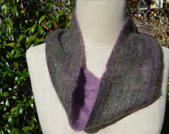 silk and mohair cowl