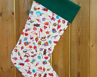 Ornaments Quilted Christmas Stocking