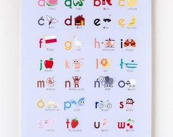 "Polish Alphabet 12""x18"" Print"