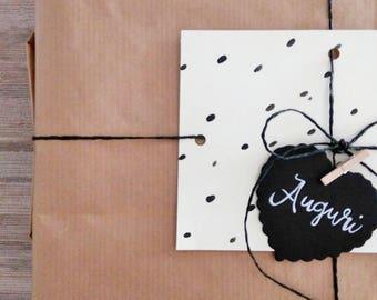 Kit- gift wrap - set - packaging - gift box - gift - handmade - kraft - paper - watercolor - greeting cards