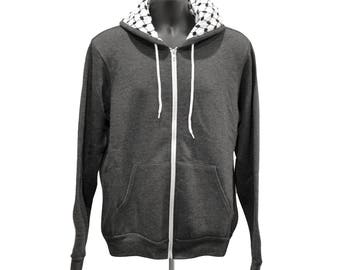 Heather Grey Kufiya Hoodie
