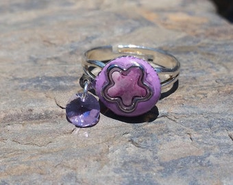 Flower Power Ring / gift idea / one of a kind