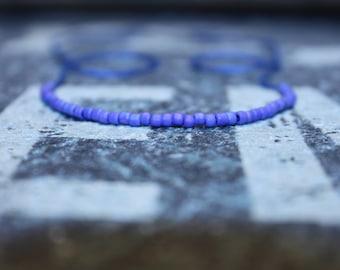 Mens Bracelet Blue - Cool Mens Beaded Bracelet, Wish Bracelet, Mens Bracelet Beaded - Blue String