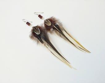 Feather Earrings / Boho Earrings / Earthy Earrings