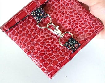 Wallet woman, handmade wallet, wallet leather wallet card holder case, made by hand sewing