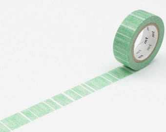 MT 1P Deco Script Border Green Washi Tape, MT Masking Tape - MT01D227