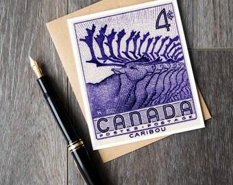 caribou herd birthday cards, caribou canada retirement card, caribou animal wedding cards, canada caribou greeting cards, teacher retirement