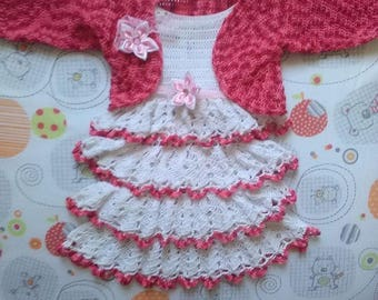 dress and bolero made with fine Mercerized cotton