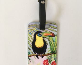 Luggage Tag - Tropical Toucan