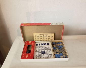 Vintage Whitman Bingo Game in Original box, Vintage games, collectible games, collectible bingo, collectible toys, vintage games,