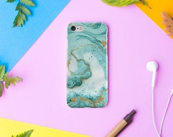 Mint Marble iPhone 8 Case iPhone 8 Plus Case iPhone 7 7 Plus Case iPhone 6 6s  iPhone X Case 5 5s SE Case Samsung Galaxy S6 S7 S8 case cover