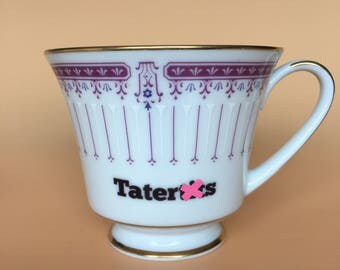 Tatert*ts | Ready To Buy Swear Teacup | Funny Rude Insult Obscenity Profanity | Unique Gift Idea