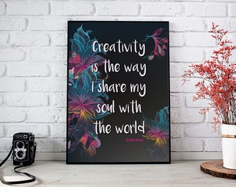 Creativity Quote Poster, Printable poster, Inspirational Poster,