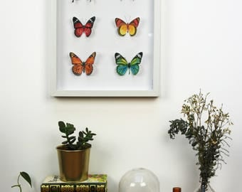 butterflies painted watercolors and cut