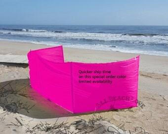 Windscreens, 4' or 5' - Quick Shipping - HOT PINK - Rip Stop- Privacy - Hot tub, Camping, RV, Backyard - Made to Order - Poles Sold Separate