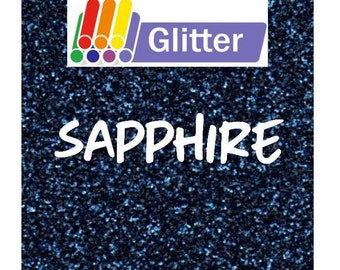 Siser Glitter Heat Transfer Vinyl - Iron On - HTV - Sapphire