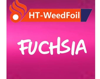 HT WeedFoil Heat Transfer Vinyl - Iron On - HTV - Fuchsia Foil