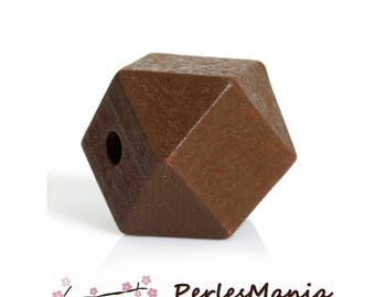 Wooden Brown 20 mm S1177304 polygon beads