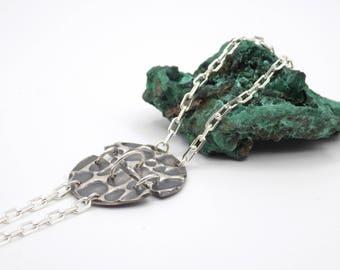 Bracelet, silver bracelet, oxidized silver, designer, rockin roll, unique, metal clay bracelet