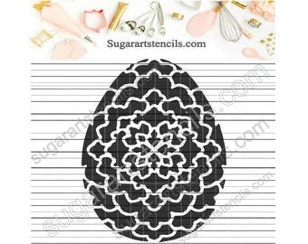 Easter egg cookie stencil ST00321