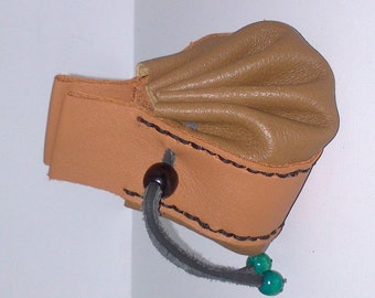 genuine leather purse and leather lace