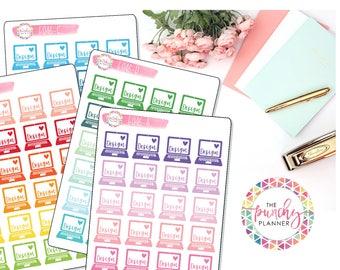 Shop Owner Planner Stickers // Design Planner Stickers