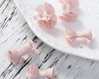 """""""Pink"""" fabric bows 5 2.3 cm"""