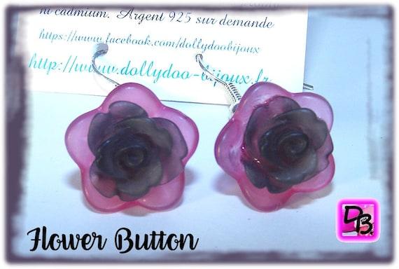 Boucles d'oreilles [Pink Flowers]
