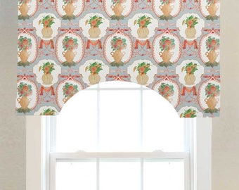 Priority Home & Design Traditions Vase Toile Custom Valance