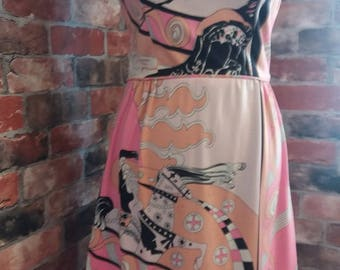 1960s - 1970s Approximate Size 8-10 Eccentric Vintage Dress! Rare design, one of a kind dress.