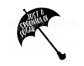 Mary Poppins Just a Spoonful of Sugar Matching Mother Daughter Family Vacation Girl's Disney World Disney Iron On Vinyl Decal 4 T Shirt 318