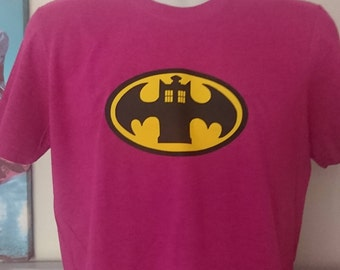 Bat Tshirt, Doctor Tshirt, Doctor Who, Batman, Dr Who Tshirt, Geek Gift, Geek Tshirt, Mash Up Tshirt, Gifts for Him, Gifts for Her, Fandom