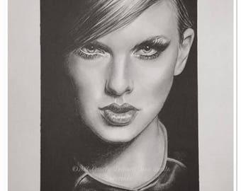 """pencil portrait graphite """"Taylor Swift"""""""