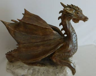 Terra cotta patina Dragon