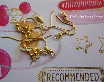 Set of 20 holders earrings gold tone hook